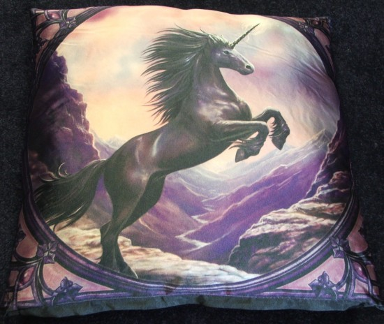 Anne Stokes NEW silk cushion
